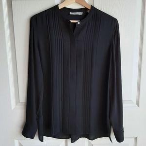 Vince Black Silk Button Down Blouse Top Size 6